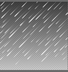 anglewise rain drops on a transparent background vector image