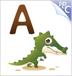 Animal alphabet for kids a for alligator vector