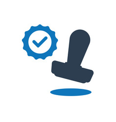 Approved stamp icon vector