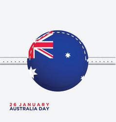Australia day background vector