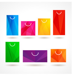 bags shopping set vector image
