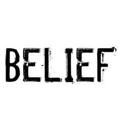 Belief stamp on white vector