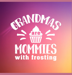 best grandma handwritten in white vector image
