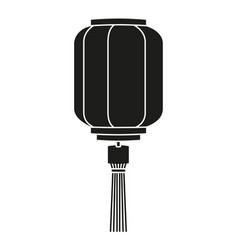 Black and white paper lantern silhouette vector