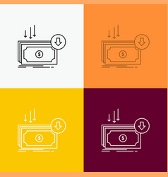 Business cost cut expense finance money icon over vector
