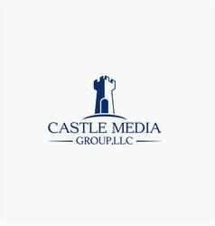 Castle media logo vector