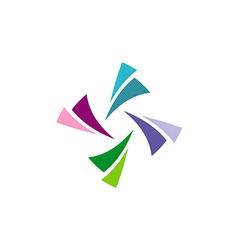 circle colorful shape logo vector image