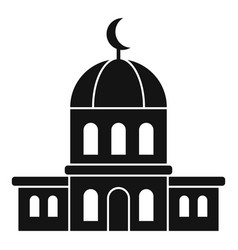 City mosque icon simple style vector