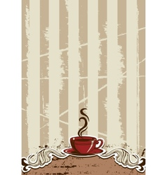 Coffe Cup Menu vector image
