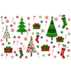Colored background with christmas tree vector