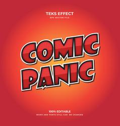 comic panic vector image