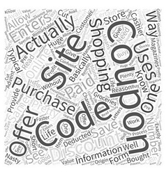 Coupon codes Word Cloud Concept vector