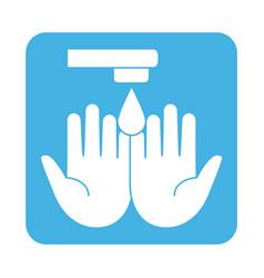 Covid 19 coronavirus prevention hands water drop vector