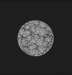 cracked round shape vector image