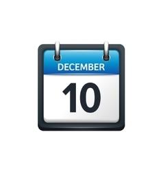 December 10 calendar icon vector