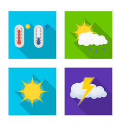 design weather and climate logo set of vector image