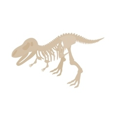 Dinosaur skeleton icon isometric 3d style vector