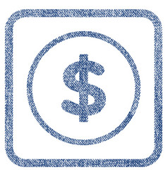 dollar fabric textured icon vector image