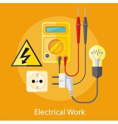 Electrical work concept vector