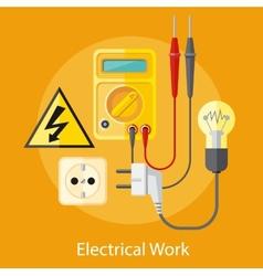 Electrical Work Concept vector