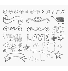 elements infographics in style sketch vector image
