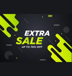 Extra sale discount banner template promotion vector