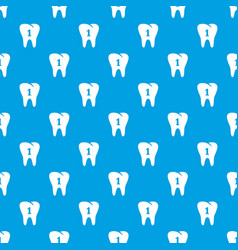 first tooth pattern seamless blue vector image