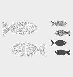 Fish pair mesh network model and triangle vector