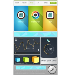 Flat objects for web design vector image