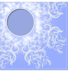Frame with hand-drawing ornament for design vector image