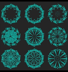 geometric decorative textured ornate stamps vector image