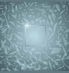 glass panel abstract broken glass vector image