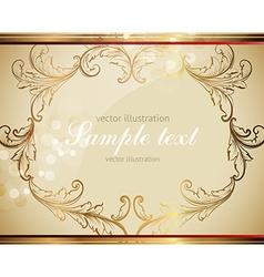 Golden Leaf Frame vector image