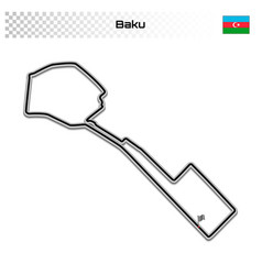 Grand prix race track for motorsport and autosport vector
