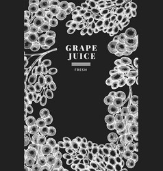 Grape design template hand drawn grape berry on vector