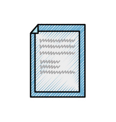 grated paper with sheet bent object design vector image
