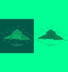 Green version of abstract alien plan vector