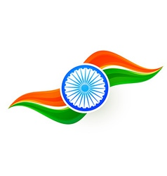 indian flag design in wave style vector image