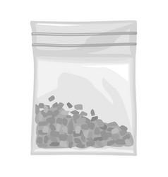 Isolated object bag and marijuana logo web vector