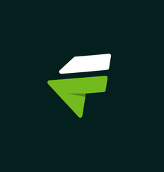 letter f creative modern business logo vector image