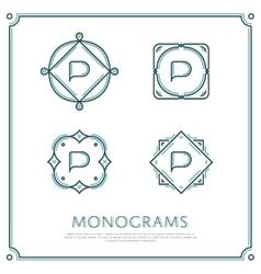 Letter P Monogram vector