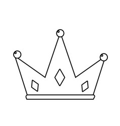 Line nice crown of king to glory and pawer vector