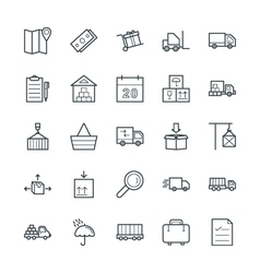 Logistic Delivery Cool Icons 1 vector image