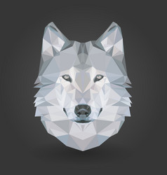 Low poly animal wolf 3d abstract vector