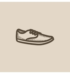 Male shoe sketch icon vector image