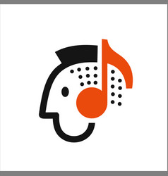 man listening to music vector image