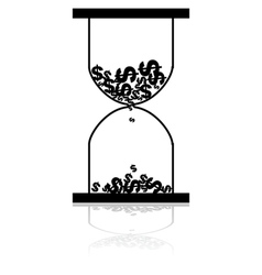 Money hourglass vector image
