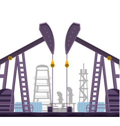 Oil industry with refinery plant vector