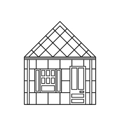 One storey house with one window icon vector image