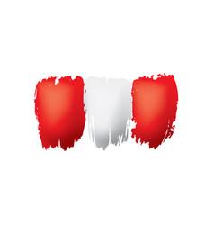 Peru flag on a white vector